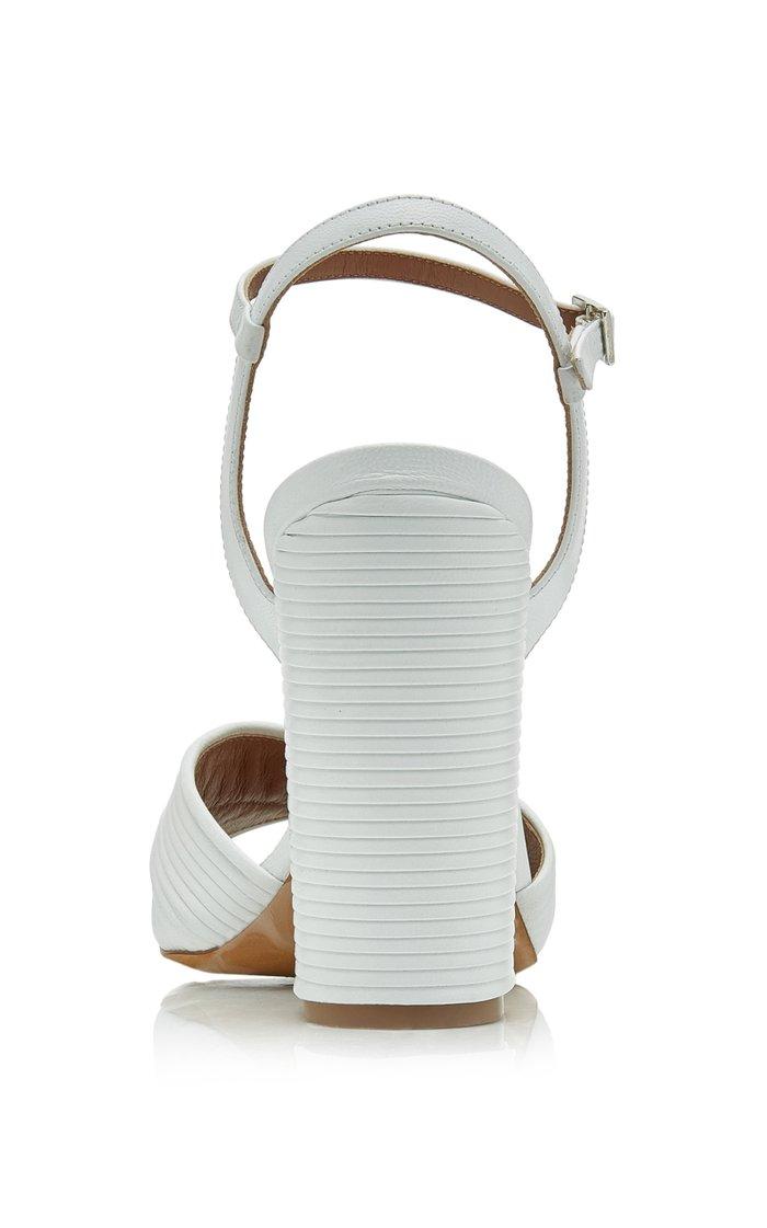 Kali Textured-Leather Sandals