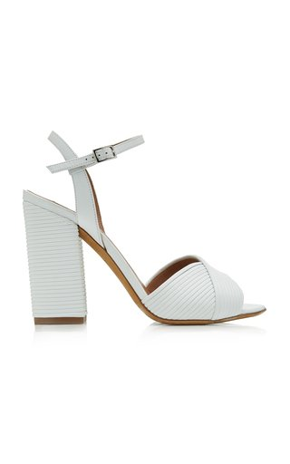 Kali Textured-Leather Sandals