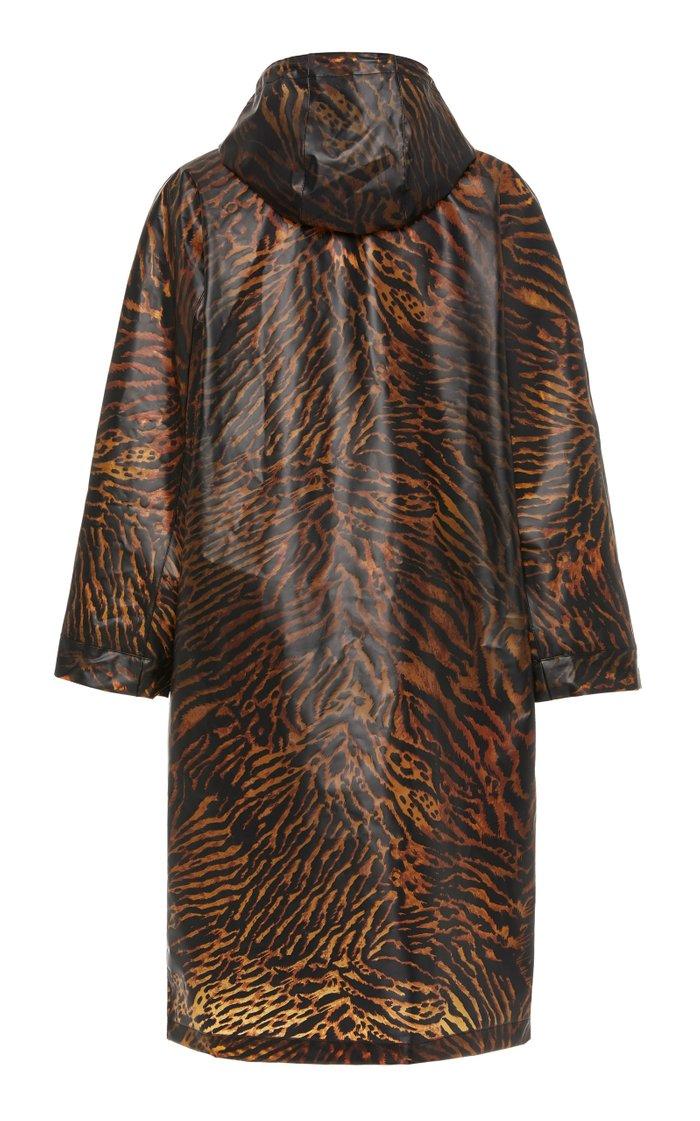 Tiger-Print Biodegradable Shell Coat