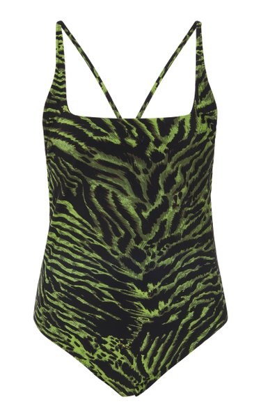 Tiger-Print Swimsuit