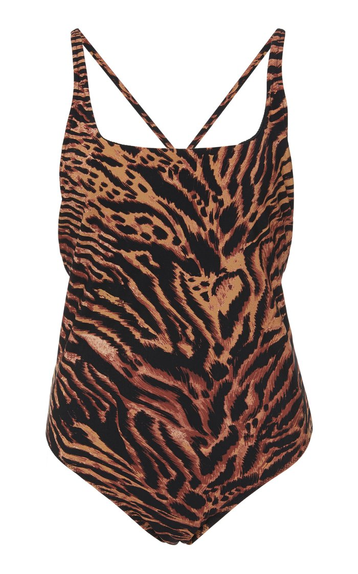 Tiger-Print Swimsuit