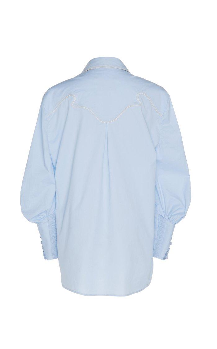 Heaven's Door Collared Cotton-Blend Shirt