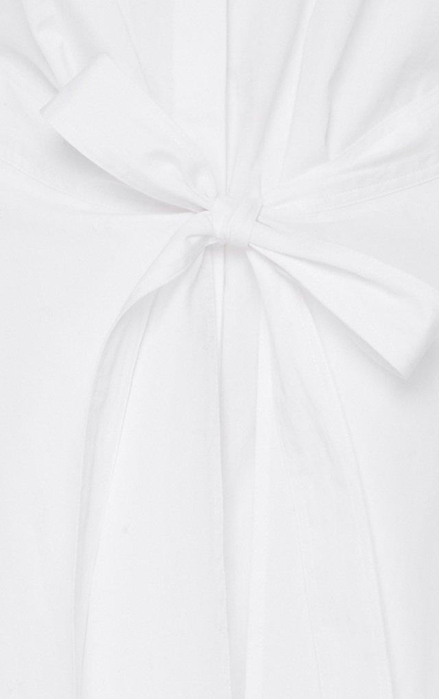 Apron Wrap Cotton Shirt Dress