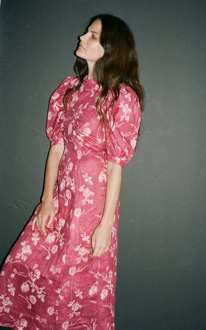 Monet Floral-Print Cotton-Poplin Midi Dress