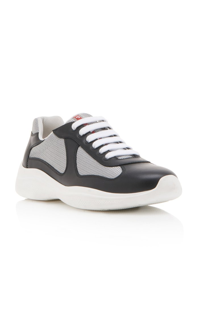 America's Cup Metallic Paneled Leather Sneakers