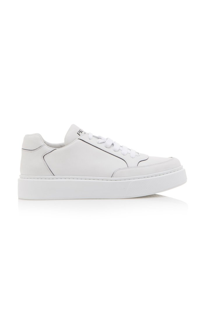Logo-Printed Leather Sneakers