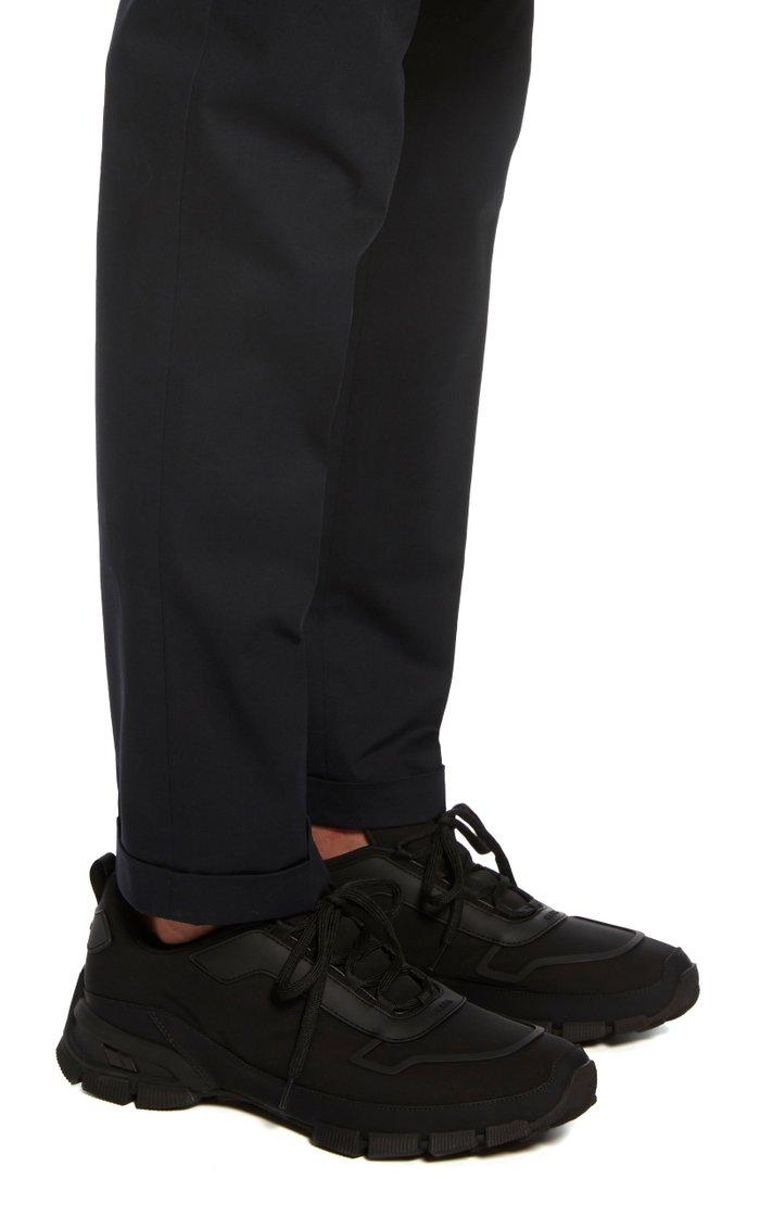 Rubber-Trimmed Neoprene Sneakers
