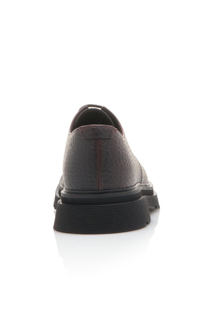 Textured-Leather And Rubber Derby Shoe