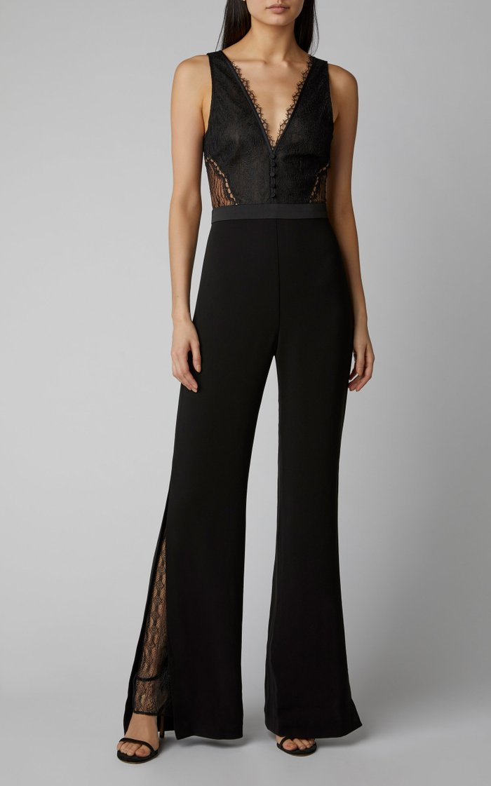 Lace And Crepe Jumpsuit