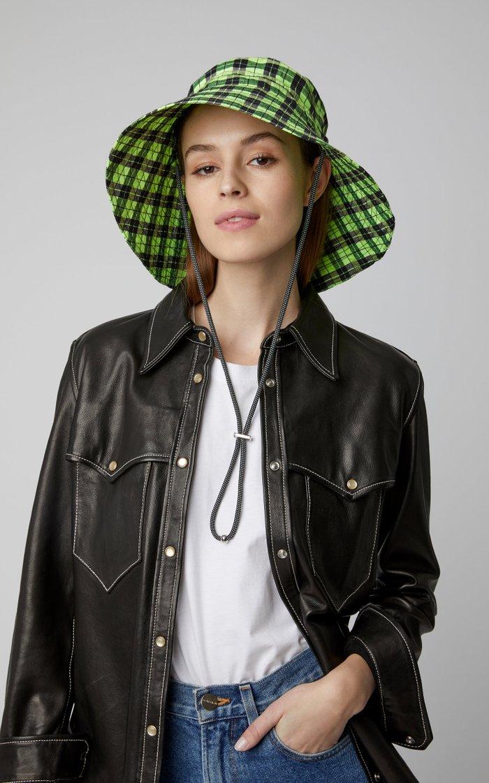 Plaid Seersucker Bucket Hat