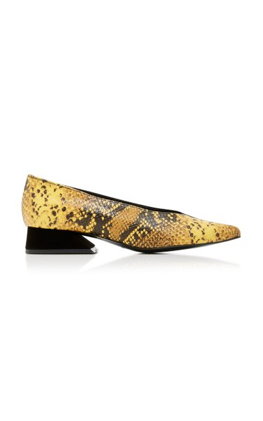 Selma Snake-Effect Leather Pumps