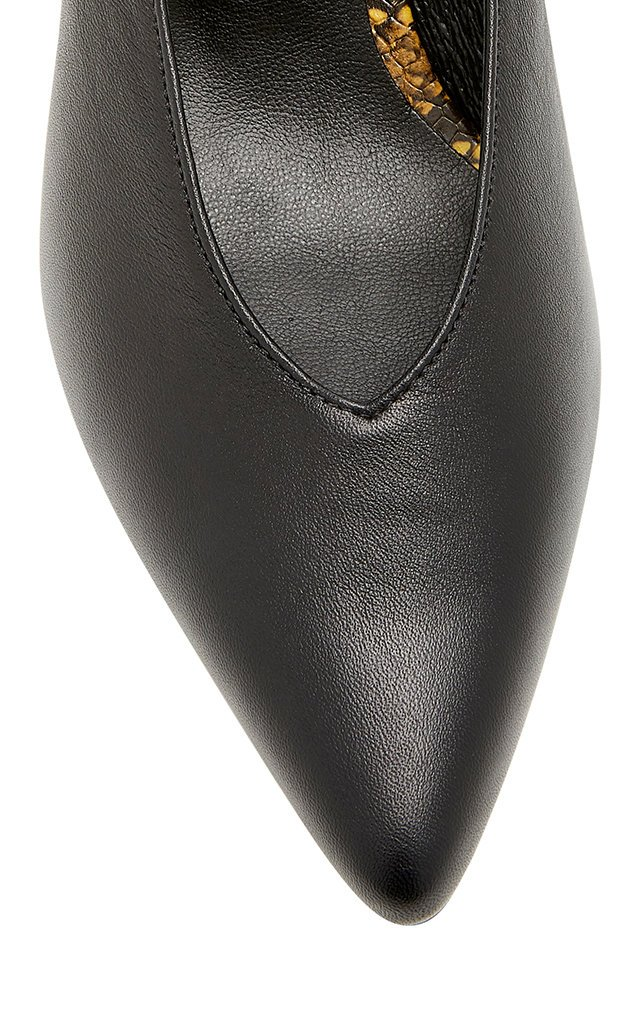 Amie Two-Tone Slingback Leather Pumps