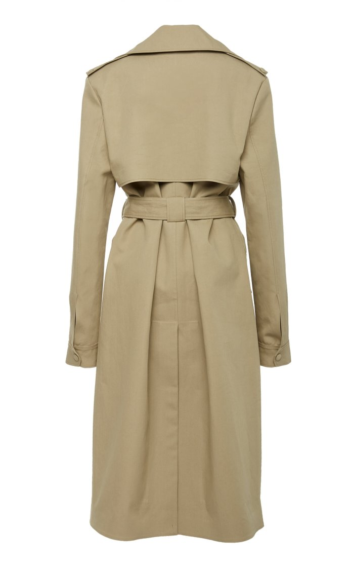 Two-Tone Reversible Cotton-Gabardine Trench Coat