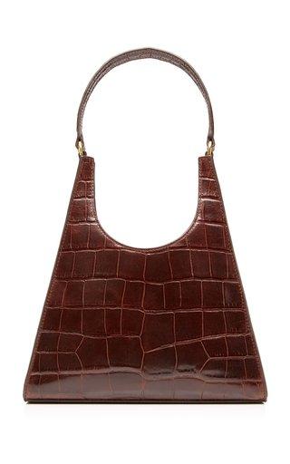 Rey Croc-Effect Leather Shoulder Bag