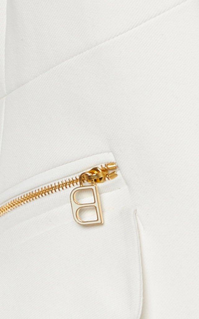 Double Pocket Zip-Detailed Cady Blazer