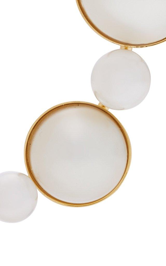 Loren 14K Gold Plated Faux-Pearl Barrette