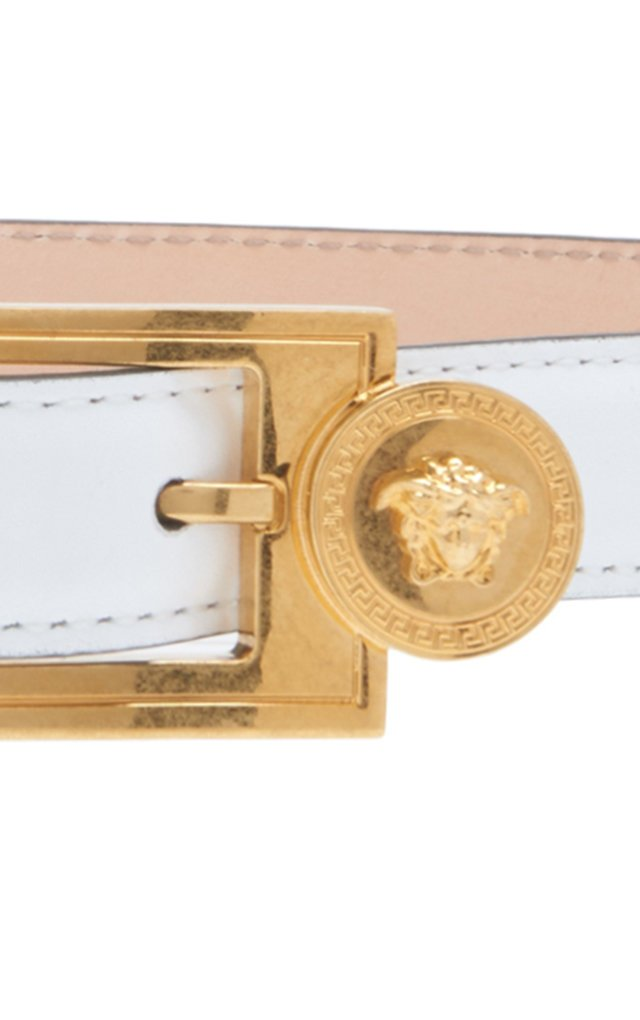 Coin-Detailed Leather Belt