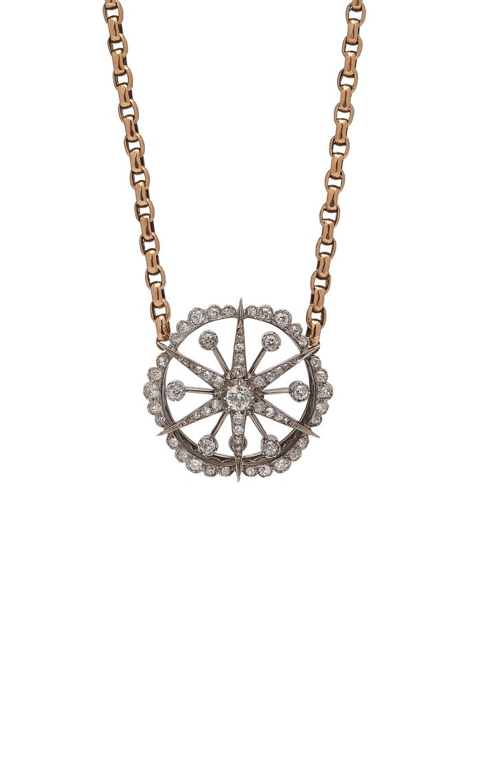 Monica One-Of-A-Kind Antique Gold Diamond Necklace