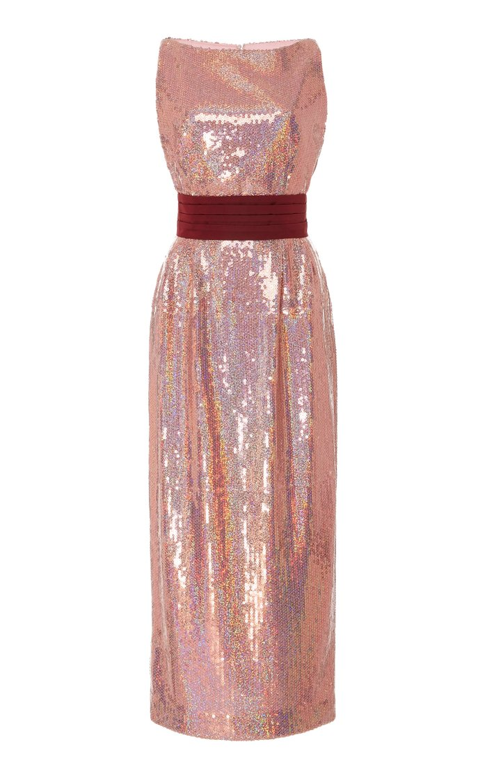 Exclusive Kashni Iridescent Sequin Midi Dress