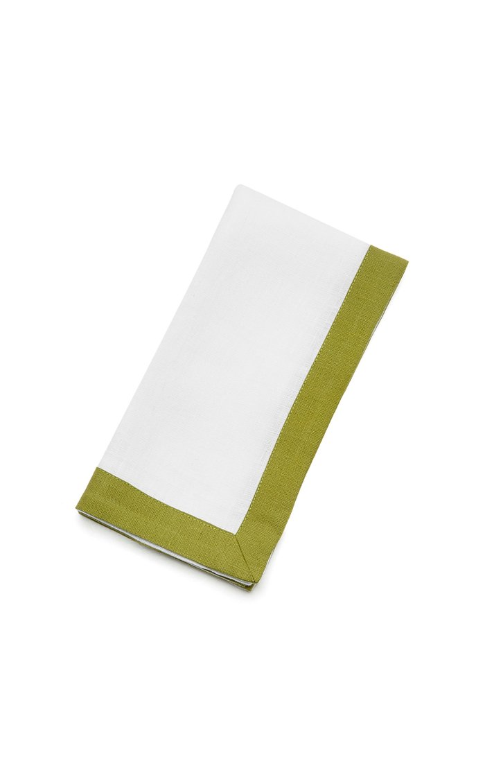Set-Of-Four Two-Tone Linen Placemats