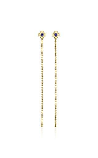 18K Gold Sapphire Earrings