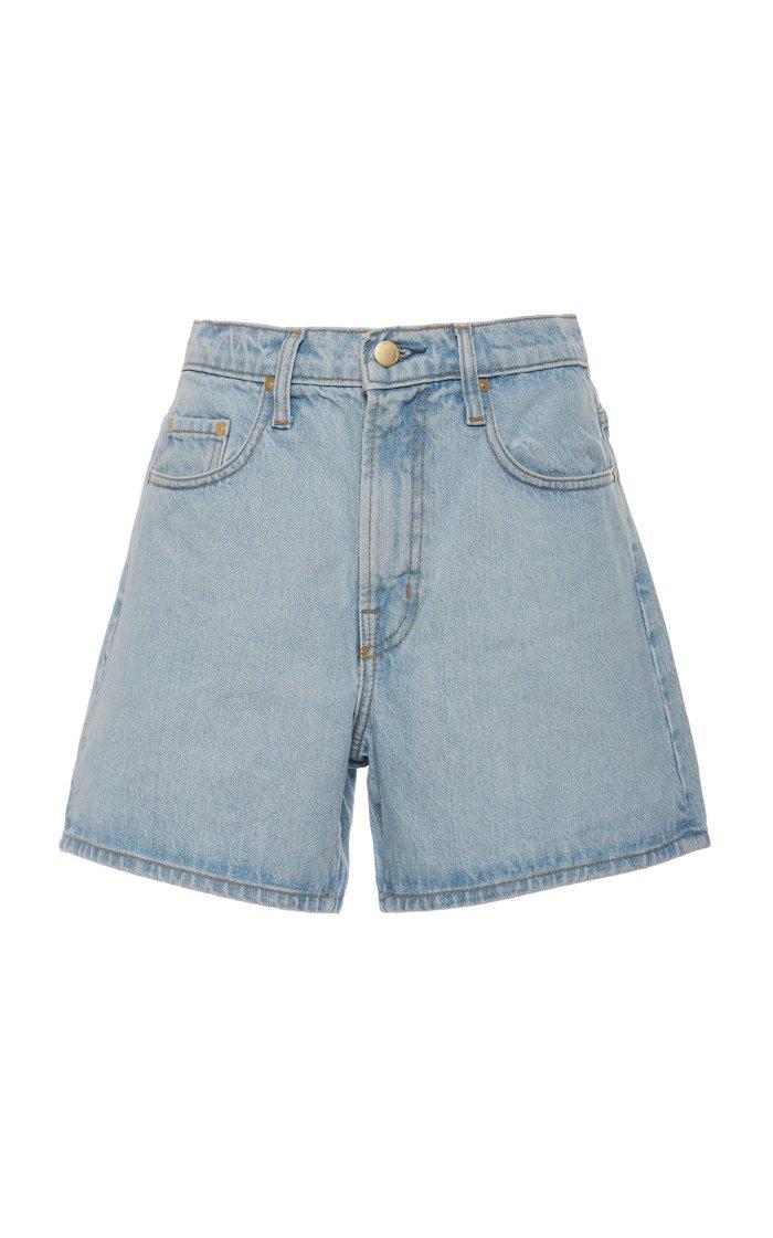 Stevie High-Rise Denim Shorts