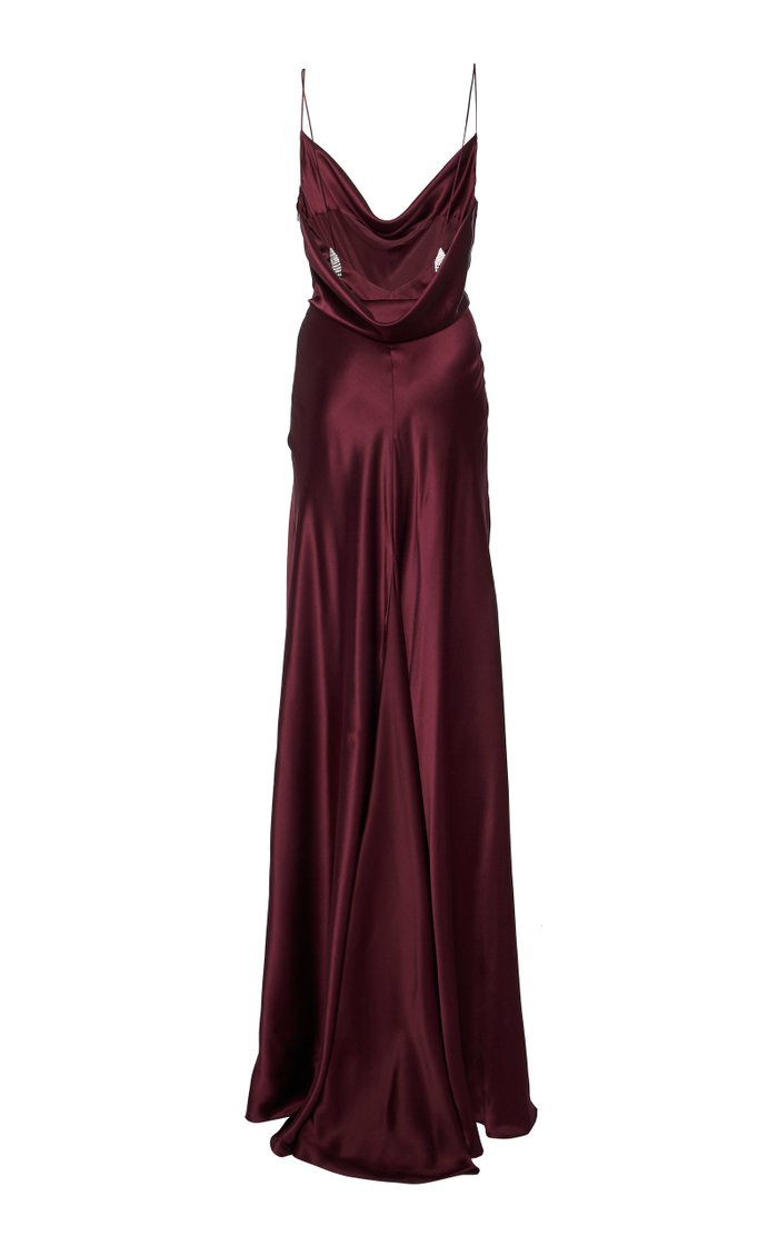 Exclusive Dashwood Silk Wrap Gown