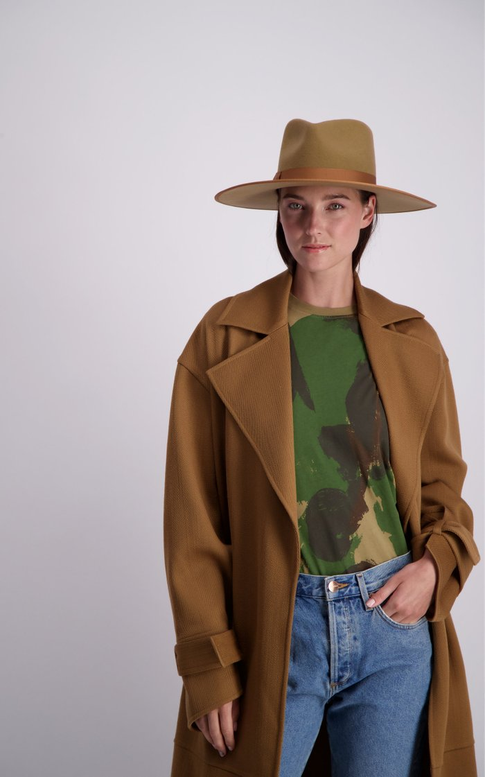 Teak Rancher Wool Felt Fedora