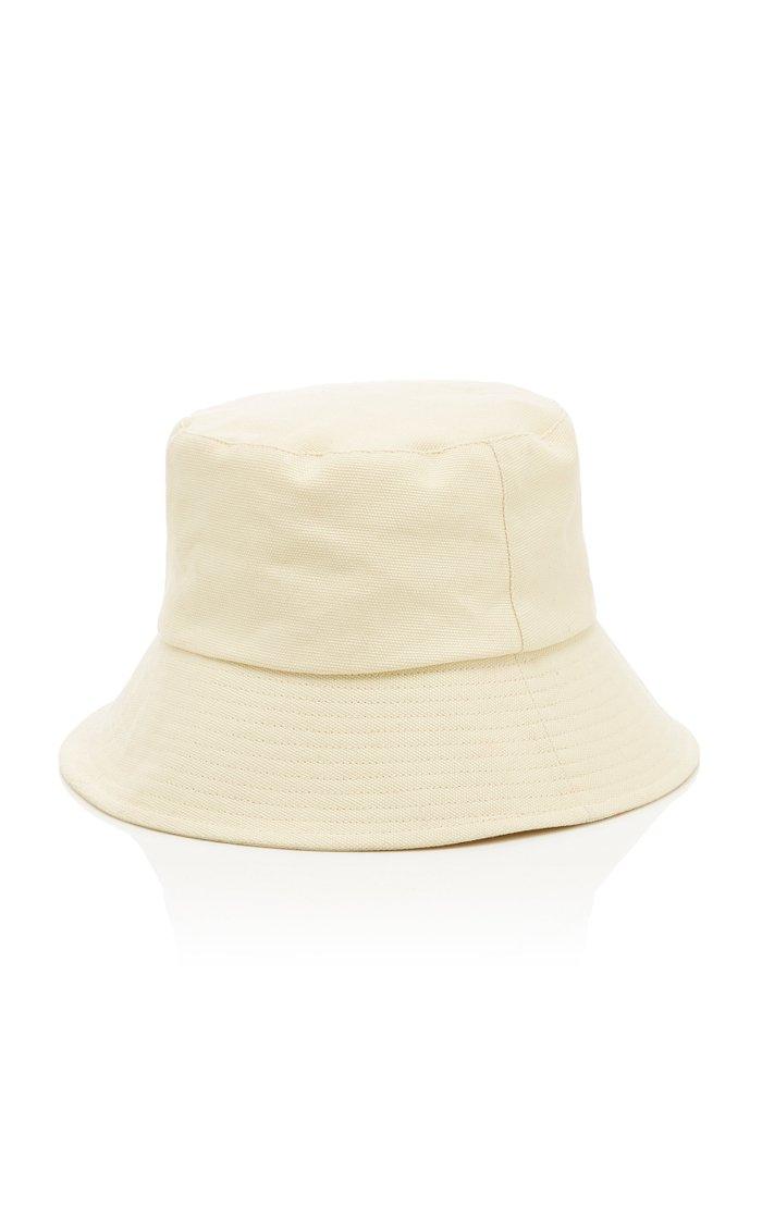 Wave Cotton-Canvas Bucket Hat