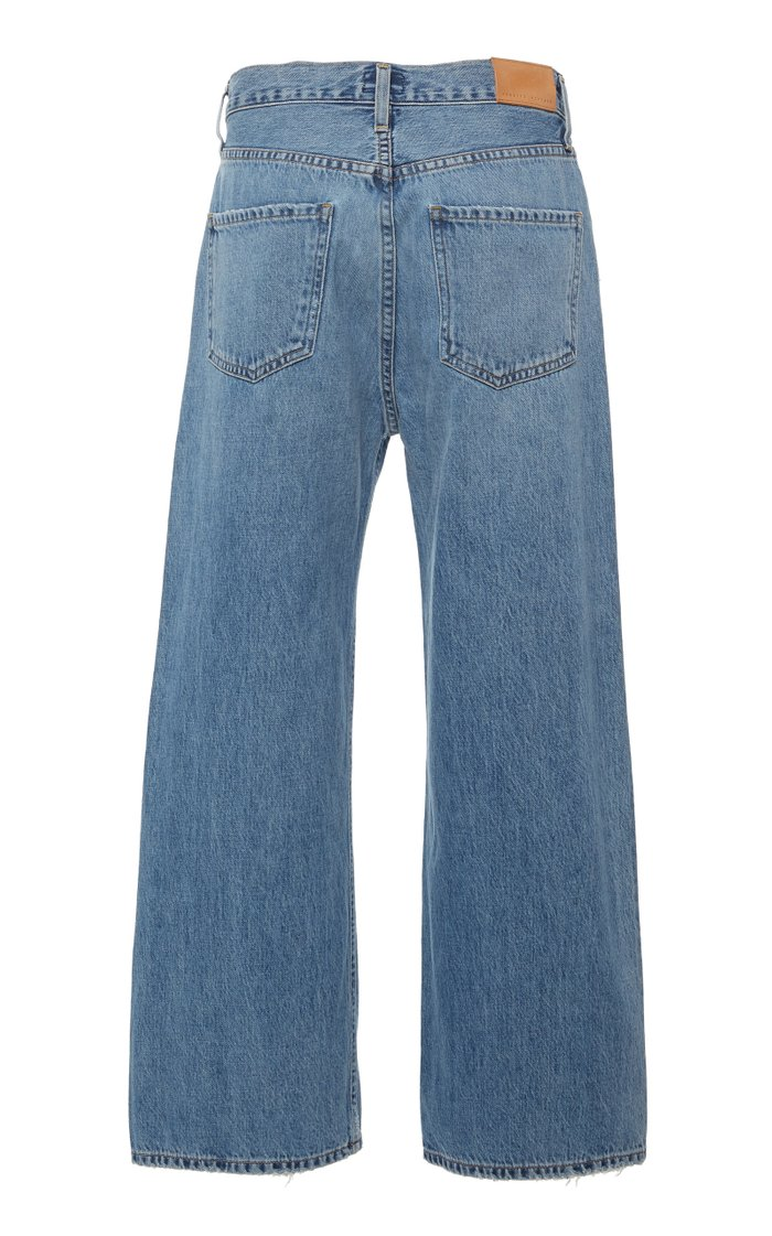 Sacha Cropped High-Rise Wide Leg Jeans