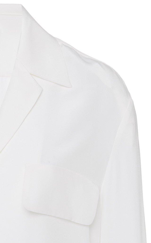 Silk-Crepe Top
