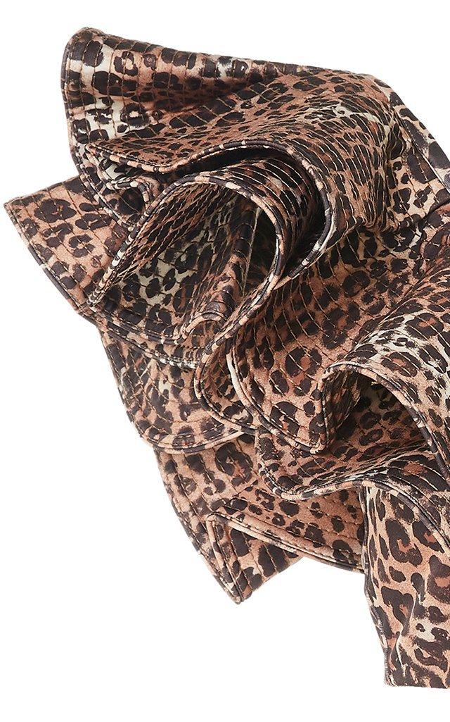 Exclusive Ruffled Leopard-Print Bikini Top