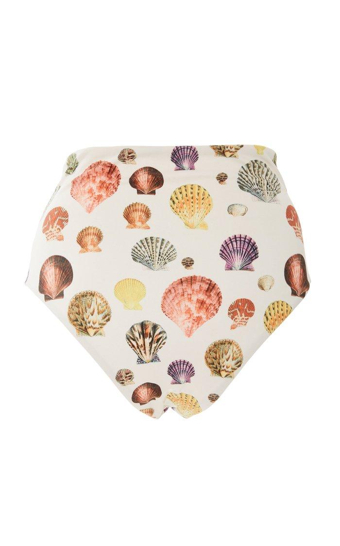 Alicia Nature-Print High-Waisted Bikini Bottom