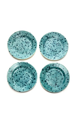 Set-Of-Four Ceramic Dessert Plates