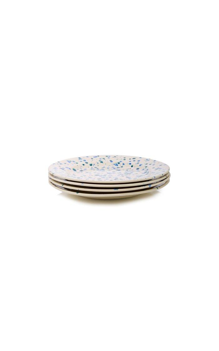 Set-Of-Four Ceramic Dessert Plates