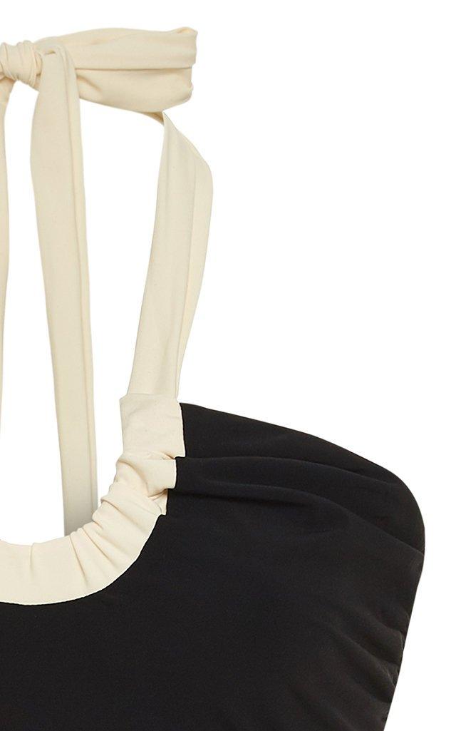 Vika Two-Tone Halterneck Swimsuit