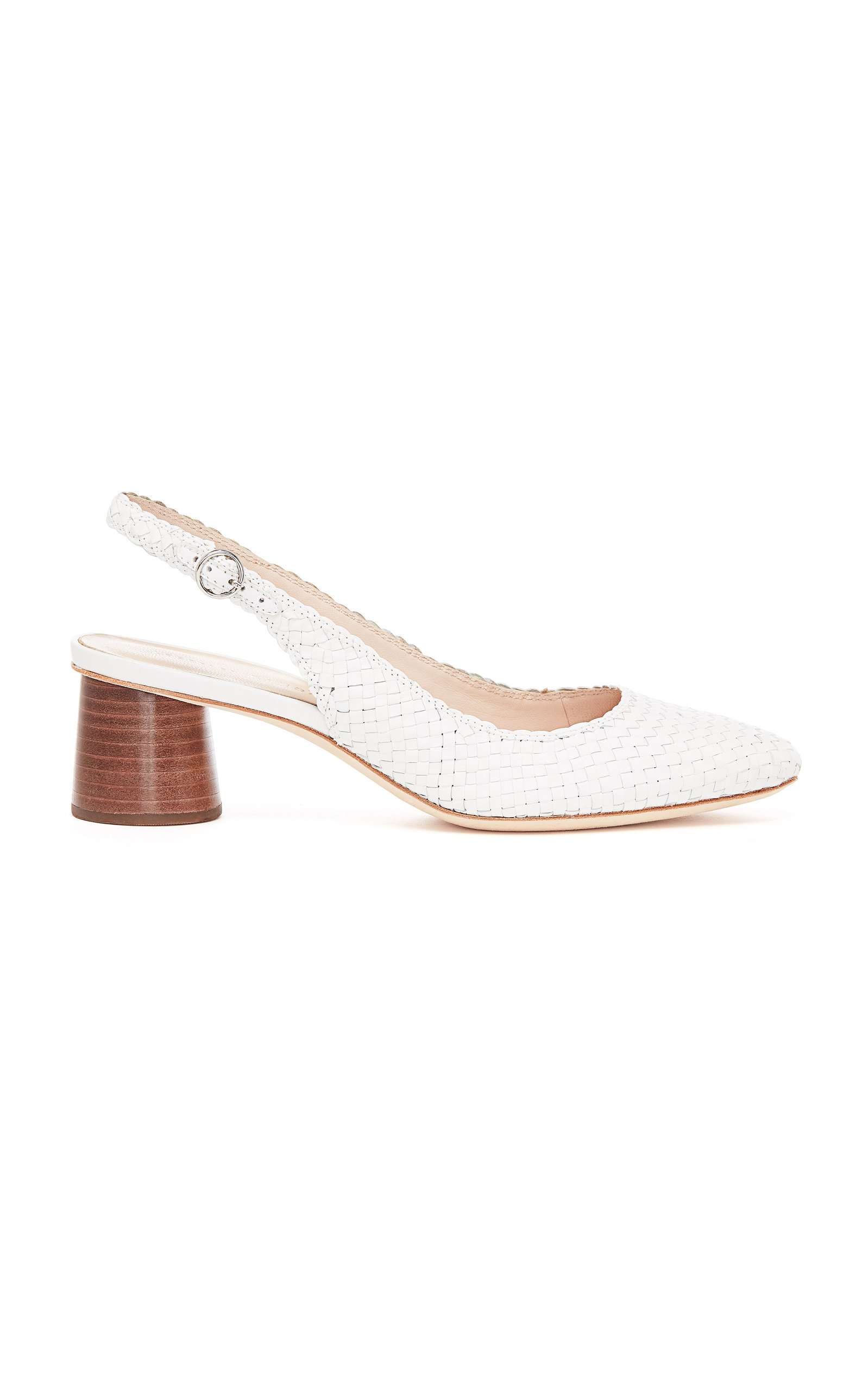 Martine Woven Leather Slingback Pumps