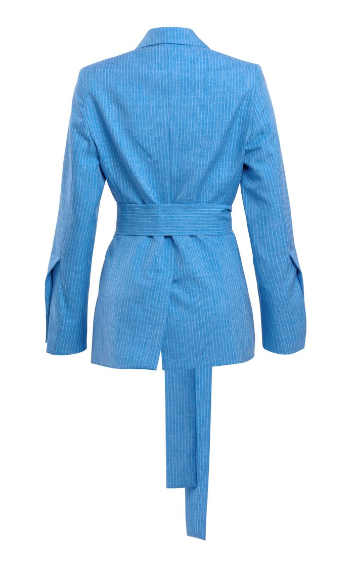 Just Getting Started Belted Twill Blazer