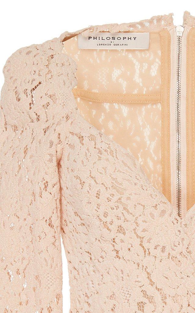 Scalloped Velvet Lace Top