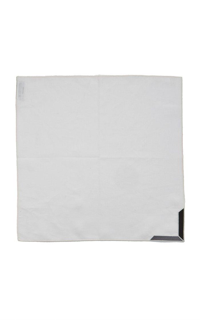 Set-Of-Four Triangu Linen Napkins