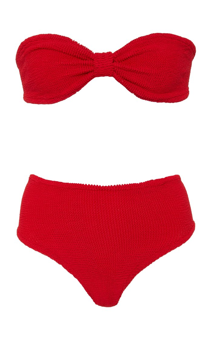 Posey Seersucker Bandeau Bikini