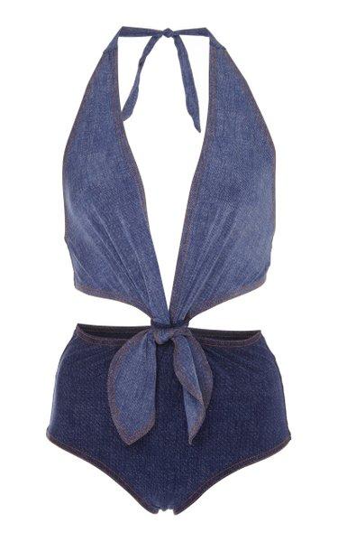 Louise Cutout Denim Swimsuit