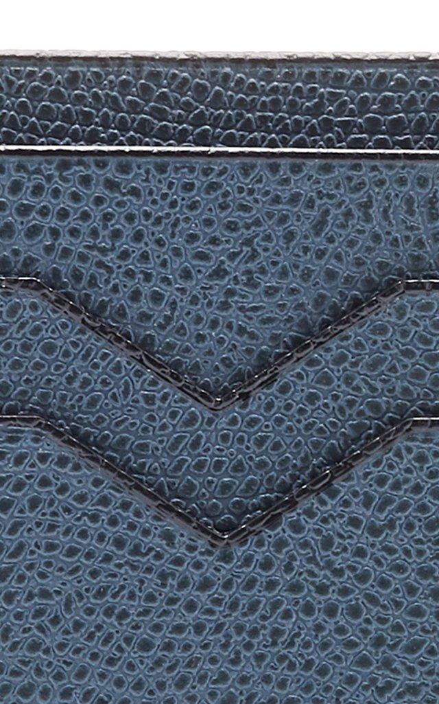 Snake-Effect Leather Cardholder
