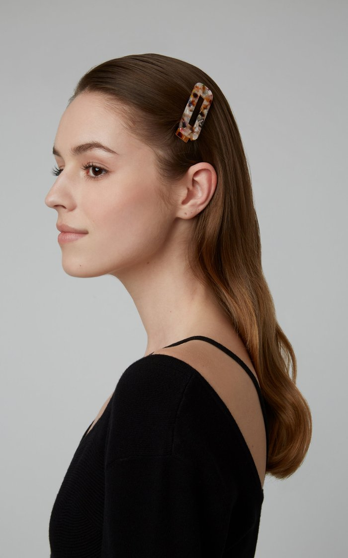 Exclusive Set-Of-Three Tortoiseshell Resin Hairclips