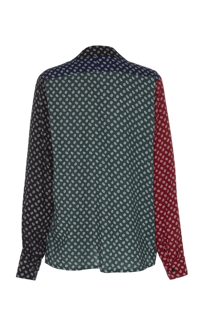 Patchwork Paisley-Print Cotton Shirt
