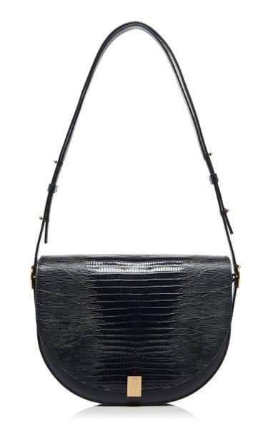 Tejus Lizard-Effect Leather Shoulder Bag