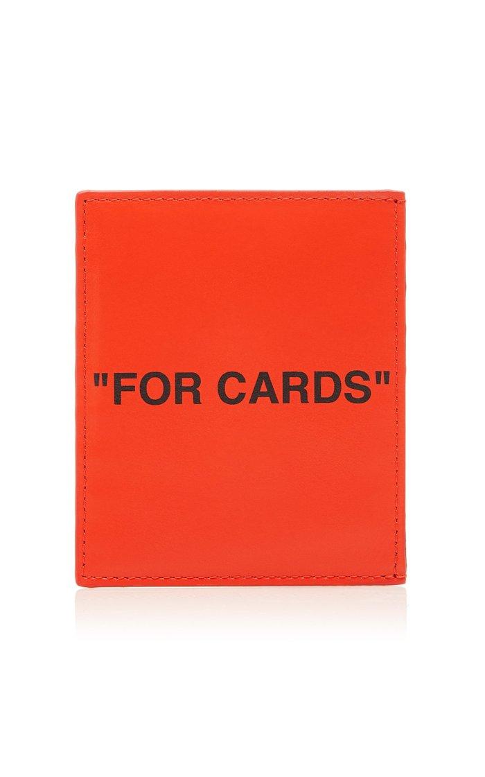 Printed Leather Cardholder