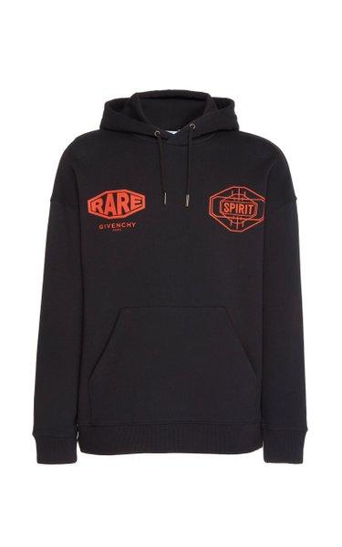 Printed Cotton-Terry Hooded Sweatshirt