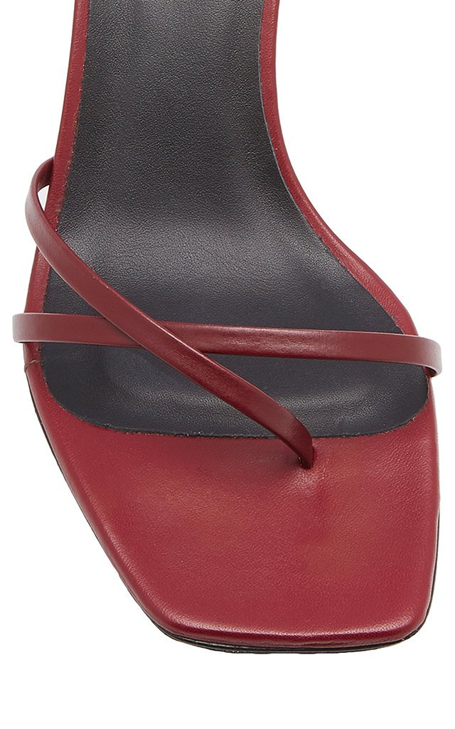 Meira Leather Slingback Sandals