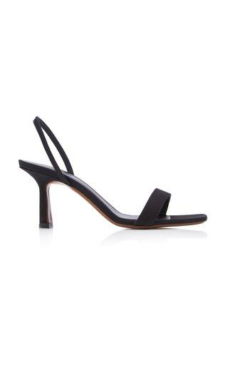 Tulip Grosgrain Leather Slingback Sandals